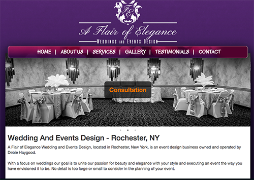 A Flair of Elegance Website