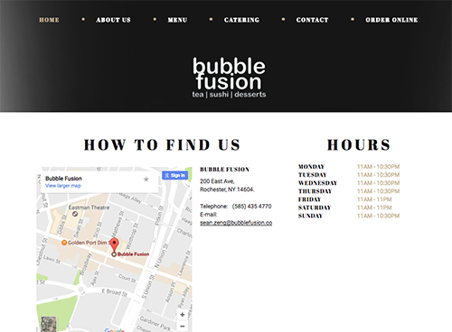 Bubble Fusion Website